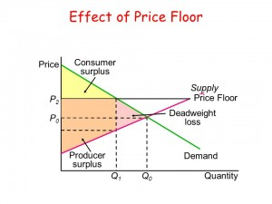 price floor with deadweight loss